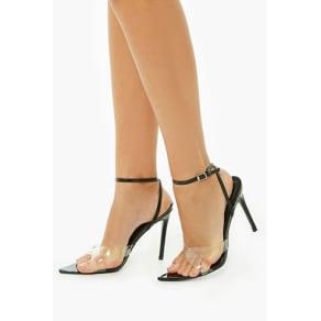 Strappy Vinyl Stiletto Heels
