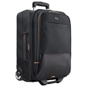 Solo - Urban Rolling Overnighter Laptop Case - Black/Orange