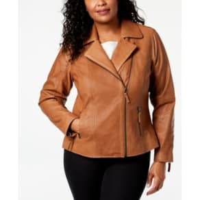 69cb50c2d62 Charter Club Plus Size Leather Moto Jacket