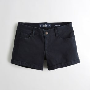 Girls Low-Rise Twill Midi Shorts from Hollister