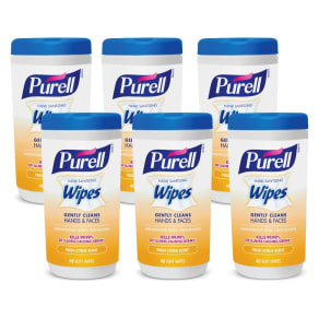 Purell Fresh Citrus Scent Hand Sanitizing Wipes - 6pk