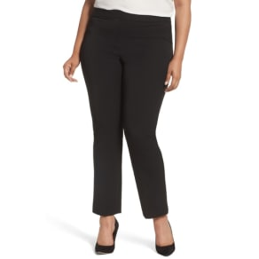 Plus Size Women's Vince Camuto Stretch Twill Seamed Pants, Size 22W - Black
