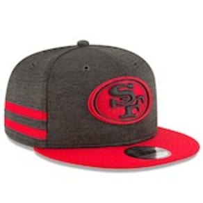 Youth New Era Black/Scarlet San Francisco 49ers 2018 NFL Sideline Home 9FIFTY Snapback Adjustable Hat