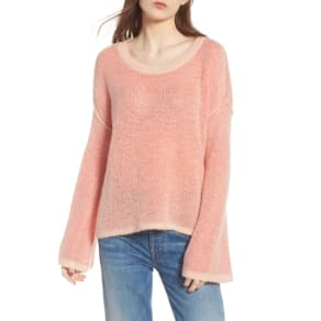 Women's Splendid Bell Sleeve Sweater, Size X-Large - Coral
