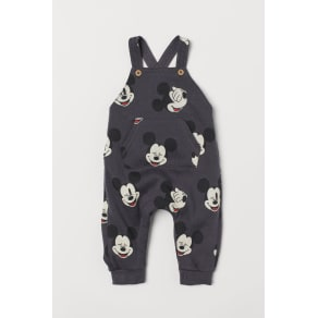 H & M - Patterned dungarees - Grey