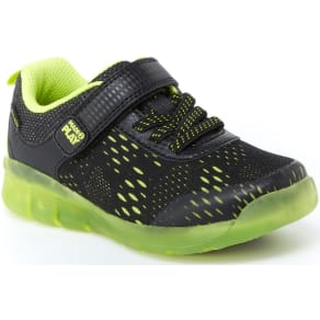 Stride Rite Made2Play® Lighted Neo Sneaker Black/Neon Green, Size 13.5 W Toddler Shoes