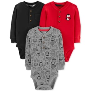 b39c8caed Carter's Baby Boys 3-Pk. Thermal Cotton Henley Bodysuits