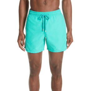 Men's Vilebrequin Hypnotique Turtles Water Reactive Swim Trunks, Size Small - Green