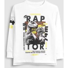 Boys Next White Raptor Long Sleeve Top (3-16yrs) -  White