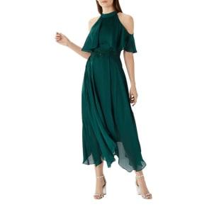 Coast - Forest Green 'Charley' Trim Detail Dress