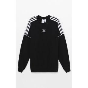 Adidas Pipes Crew Neck Sweatshirt - Black/White