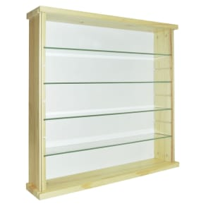 Solid Wood and Glass Display Cabinet - Pine