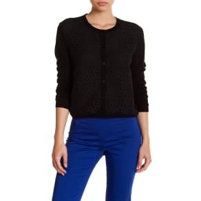 Aria Silk Blend Knit Cardigan