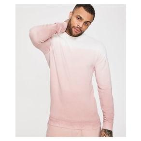Dead Legacy Fade Crew Sweatshirt - White/Pink - Mens