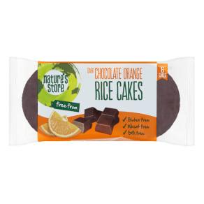 Nature's Store Dark Chocolate Orange Rice Cakes 100g - 100g, Orange