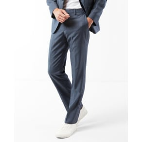 Express Mens Classic Blue Wool Twill Suit Pant