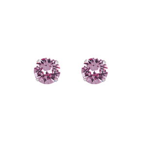 Sterling Silver Large Stud Earrings With Swarovski(r) Crystals