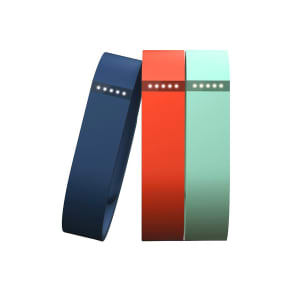 Fitbit - Flex Classic Replacement Bands (3-Count - Large) - Blue/Tangerine/Teal, Multicolored Blue Orange