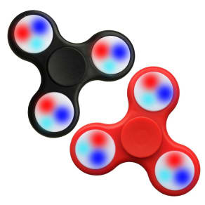 Fidget Spinner Wild Led 2 Pack - Colors Will Vary, Multi-Colored