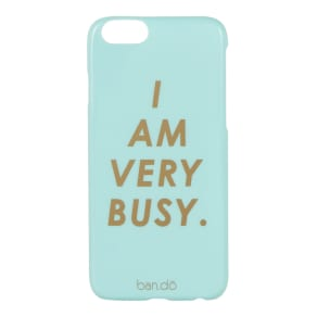 ban.do I Am Very Busy Iphone 6 Case, Blue