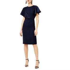 Warehouse - Satin And Crepe Mix Dress