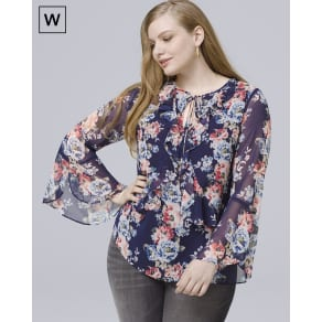 Women's Plus Floral-Print Blouse by White House Black Market