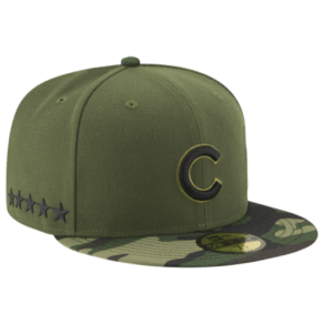 Chicago Cubs New Era Mlb 59fifty Stars & Stripes Memorial Day Cap - Mens - Green Camo