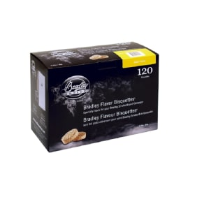 Bradley Technologies Bradley Alder Bisquettes 120-Pack, Black