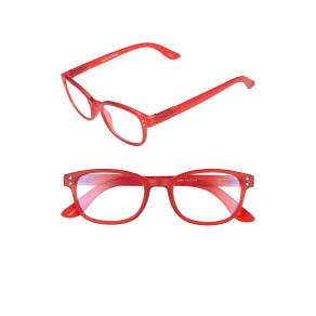Women's Corinne McCormack Colorspex 50mm Blue Light Blocking Reading Glasses - Red