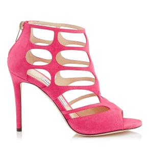 Ren 100 Pink Suede Sandals