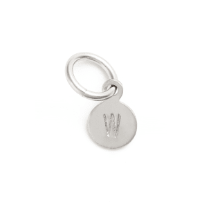 Women's Nashelle Tiny Initial Sterling Silver Coin Charm