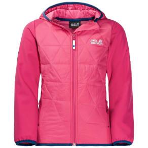 Jack Wolfskin Softshell Jacket Girls Girls Grassland Hybrid Jacket 140 Violet
