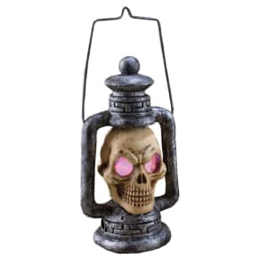Halloween Skull Lantern Light Up Decor, Multi-Colored