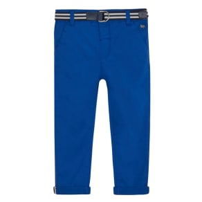 J by Jasper Conran Boys' Blue Slim Chinos With Belt