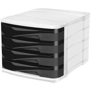 Cep 4 Drawer - Desktop Module - Black