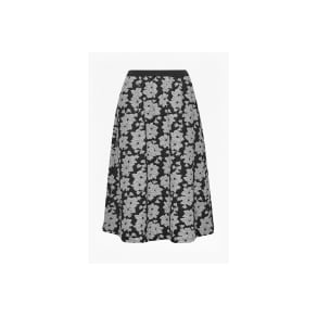 Lily Jacquard Full Skirt - Grey Mel Multi