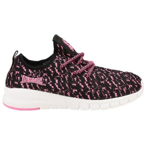 Lonsdale Girls' Pink/Black 'Carlos' Lace Up Trainers