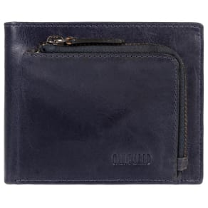 Cultured London Dark Navy 'Capital' Natural Leather Rfid Wallet