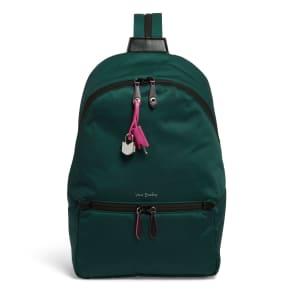 Vera Bradley Midtown Convertible Backpack in Woodland Green