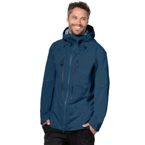 Jack Wolfskin Hardshell Men Exolight Mountain Jacket Men L Blue