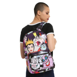 Loungefly Disney Villains Characters Print Backpack