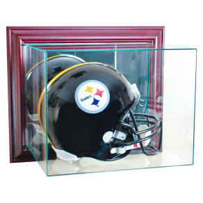 Perfect Cases Wall Mounted Football Helmet Display Case, Clear