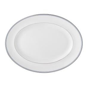 Wedgwood Vera Wang Grosgrain Indigo Oval Dish 35cm