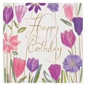 Woodmansterne Bizzy Lizzy Flowers Birthday Card
