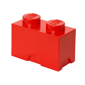 Lego(r) 2-Stud Red Storage Brick