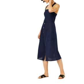 Warehouse - Linen Button Through Dress