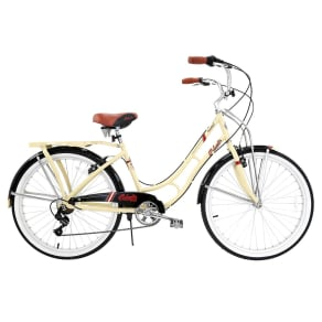 Columbia Women's Hampton Vintage 26 Cruiser Bike - Cream, Tan