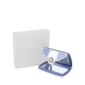 Jon Richard Lilac Pearl Envelope Compact Mirror Made With Swarovski Crystals