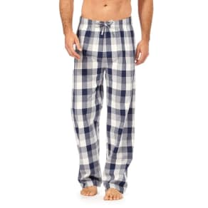 Mantaray Big and Tall Pack of Two Multi-Coloured Checked Pyjama Bottoms
