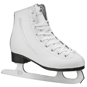 Lake Placid Cascade Girl's Figure Ice Skate - White (Youth 12)